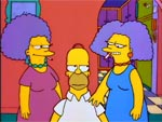 Homero contra Patty y Selma