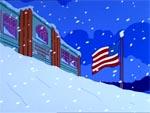 Skinner cubierto por la nieve